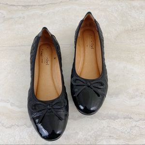 Jocef Seibel Leather Quilted Ballet Flat Shoes